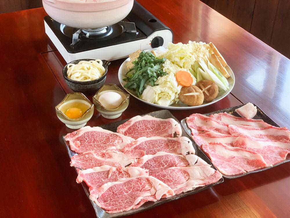 『信州プレミアム牛』すき焼き(The Shinsyu-premium beef Suki-yaki)