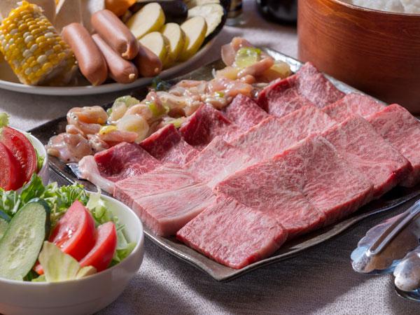 信州プレミアム牛炭火焼き(The Shinsyu-premium beef Barbecue )