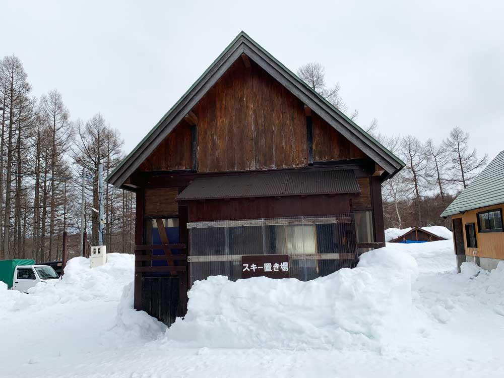 スキー置き場